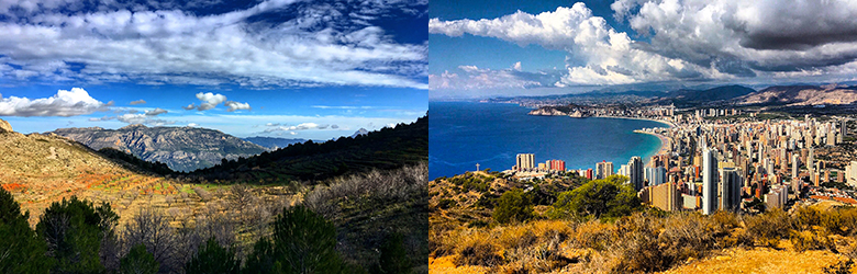 Fottur langs Spanias hvite kyst