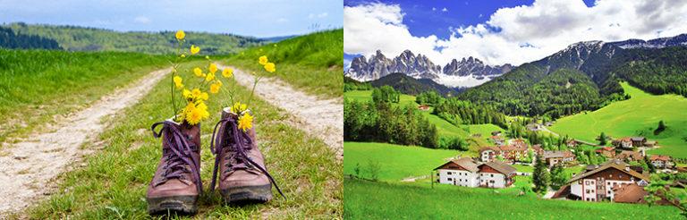 Fottur i Dolomittene, Italia