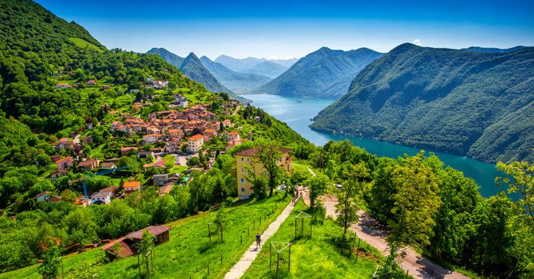 Sykkeltur i Sveits og Italia