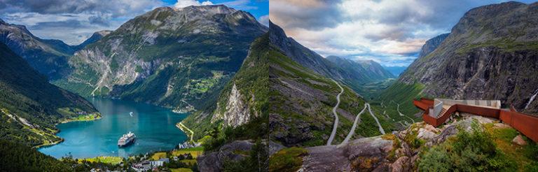 Et lite stykke Norge fra sykkelsetet