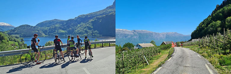 Biking in Hardanger, Norway