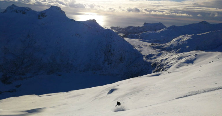 Ski Touring Randonee in Lofoten