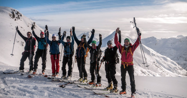 On the top - Ski Touring Randonee