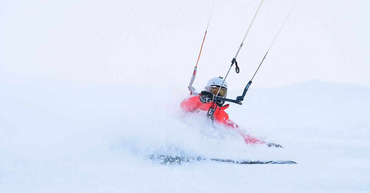 Kiting at Hardangervidda, Norway