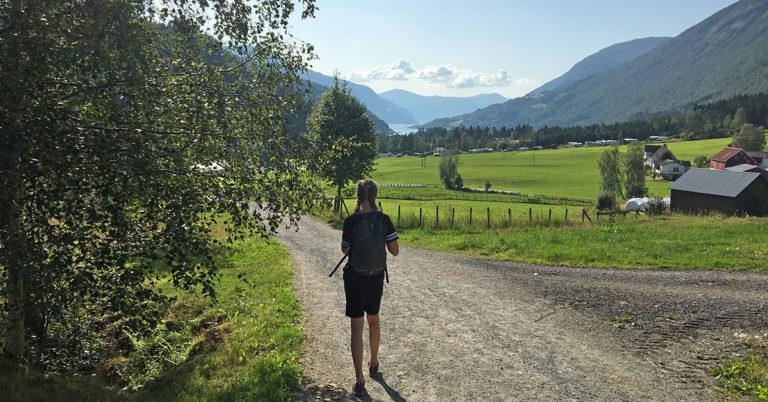 Hiking in Loen, Norway