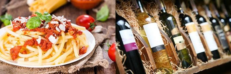 Italiensk mat og vin